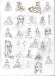 Shiny Men Sketches © Spirit of the waterfall laptop publishing