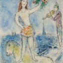 Chagall Horse Rider with bouquet