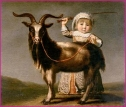 Girl with goat by Jacob Cuyp