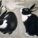 Sketches of a Black-and-White Rabbit by Maruyama Okyo