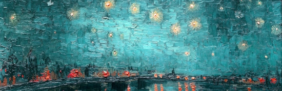 Van Gogh Starry Night pervinca
