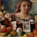 Portrait in the mirror by Margaret Olley