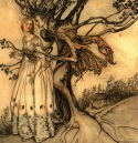 Tree & Maiden by Arthur Rackham