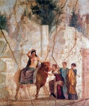 Europa on a bull, Pompeii's fresco