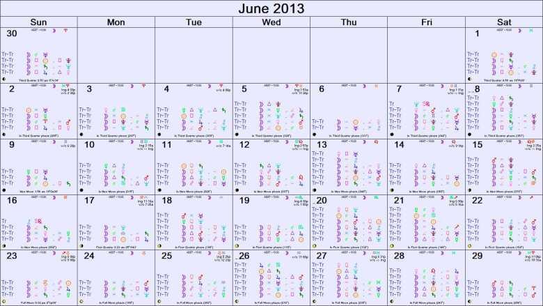 JUNE 2013 ASTR0-CALENDAR