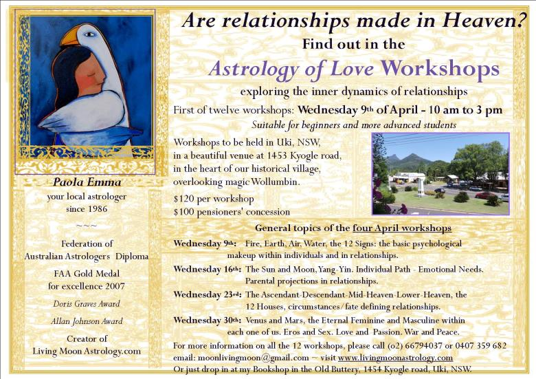 Astrology Workshops April 2014 Uki NSW Australia