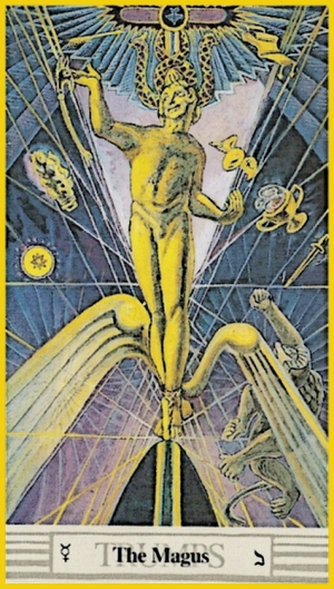 Hermes from Alistair Crowley Tarot deck