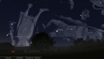 Moon-Mercury-Spica on September 15 at 6.30 pm West