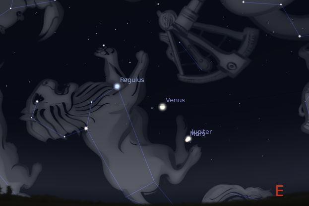 Ocotber 18 2015 Mars-Jupiter Conjunction