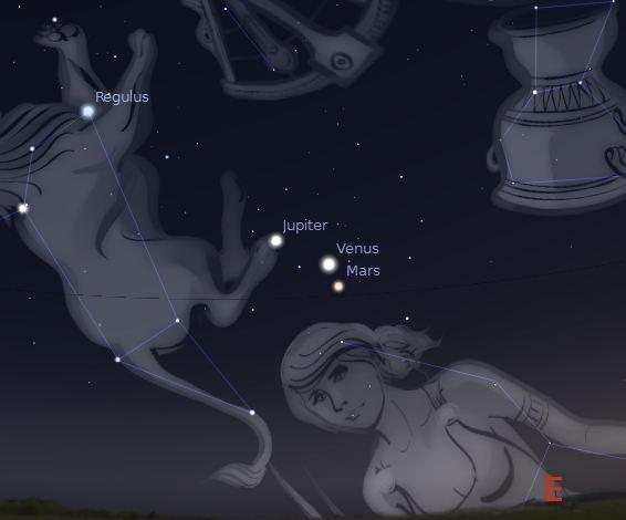 Ocotber 31 2015 Venus-Mars Conjunction