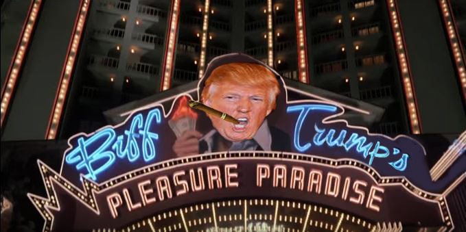 Trump starring as Tycoon Biff Trump in 'Back to the Future' cult classic