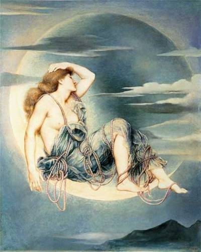 Luna by Evelyn Pickering De Morgan