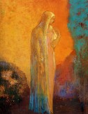 Woman with Veil by Odilon Redon