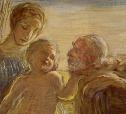 Sacra Famiglia by Gaetano Previati ( detail)