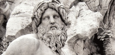 Statue of Zeus  - alias Jupiter- in the Bernini Fountain in Piazza Navona - Rome