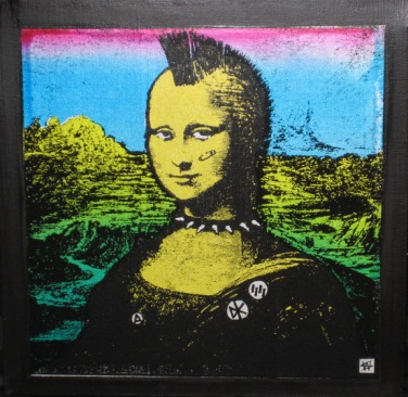 great! Don't know the artist. The Punk Mona Lisa?