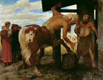'Centaur in the village blacksmiths shop' 1888- by-Arnold Bocklin