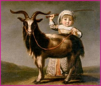 'Girl with a goat' by Jacob Gerritsz Cuyp