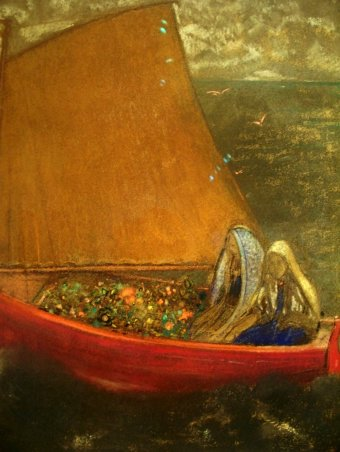 'The Yellow Sail' by Odilon Redon (1840-1916)