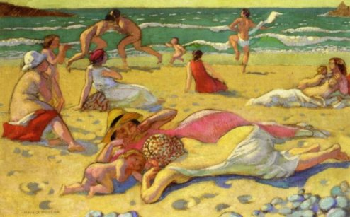 'Games in the sand' by Maurice Denis