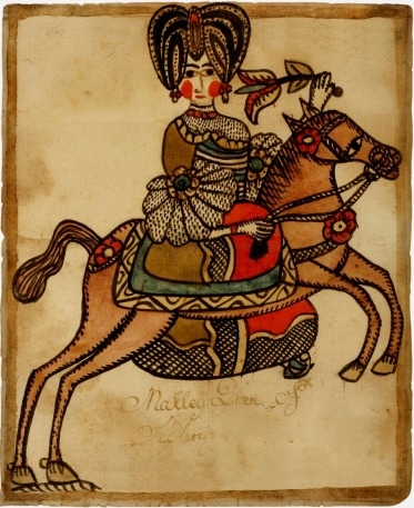 Drawing of Woman on Horseback by anonymous, c. 1775