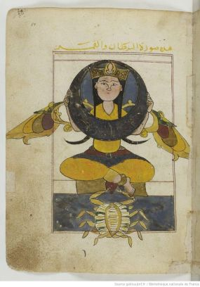 The symbol of Cancer from an ancient manuscript