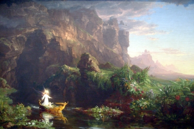 'The voyage of life - childhood' by Thomas Cole