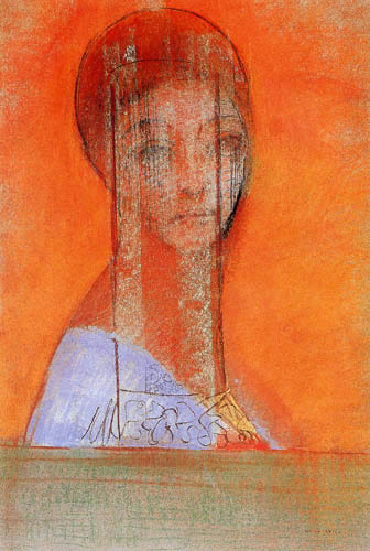 'Frau Schleier' by Odilon Redon