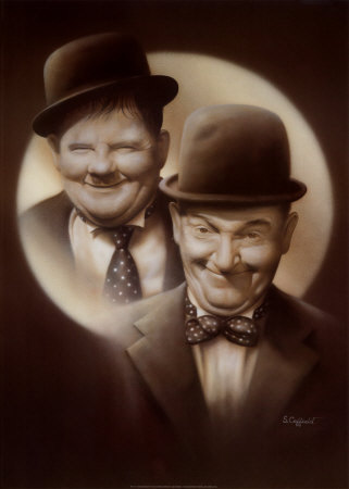 Stan Laurel & Oliver Hardy in 'Double Trouble'