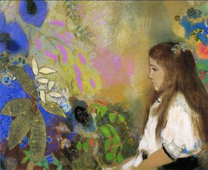 'Portrait of Yseult Fayet' by Odilon Redon