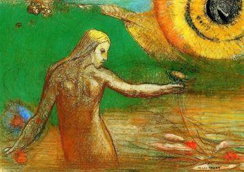 'Fleur de sang' by Odilon Redon
