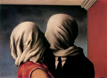 'Lovers' by Rene' Magritte