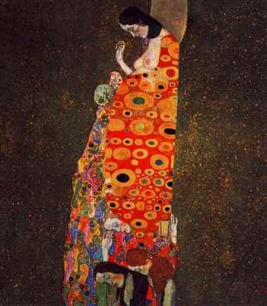 'Espoir 2' by Gustav Klimt - 1907-1908