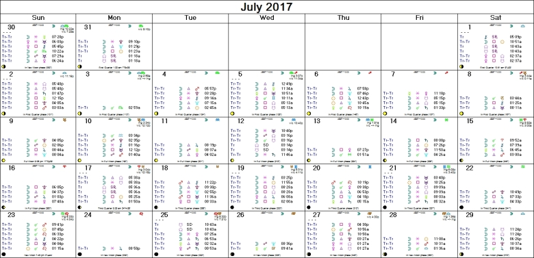 JULY 2017 ASTRO-CALENDAR