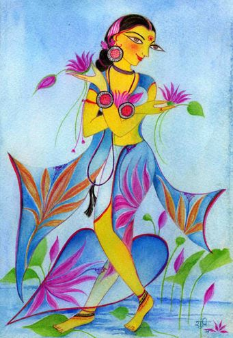 'Happiness among the water lilies - morning' by Shuchi Krishan