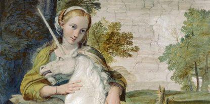 'The Virgin and the Unicorn' by Domenichino (1602)