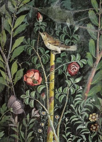 Roman garden painting, detail, first century A.D