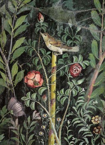Roman garden painting, detail, first century A.D