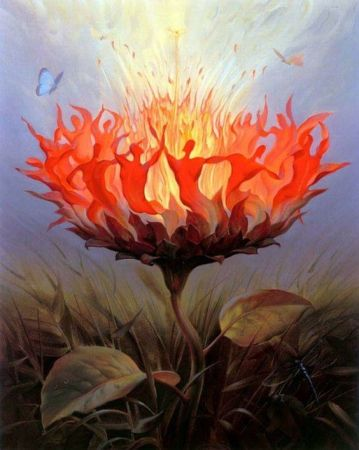 """Hard times require furious dancing'' by Vladimir Kush"
