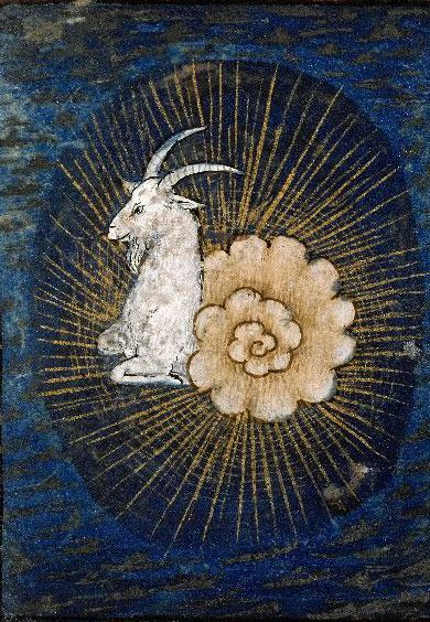 Capricorn from the Book of Hours 15th-16th century, Lyon, Bibliothèque municipale