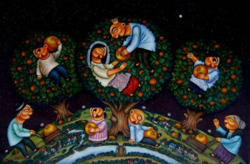 'Orange Gatherers' by Aljo Pingol