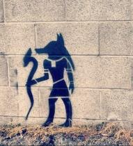 Thoth, Egyptian Hermes-Mercury street art