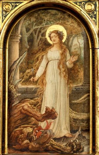 'Santa Margherita' by Riccardo Meacci (1856 - 1938)