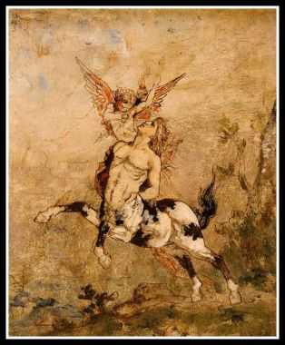 Centaur and Cupid by Gustave Moreau