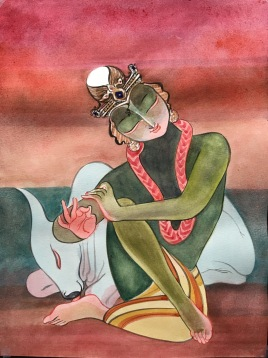 Krishna and the Bull