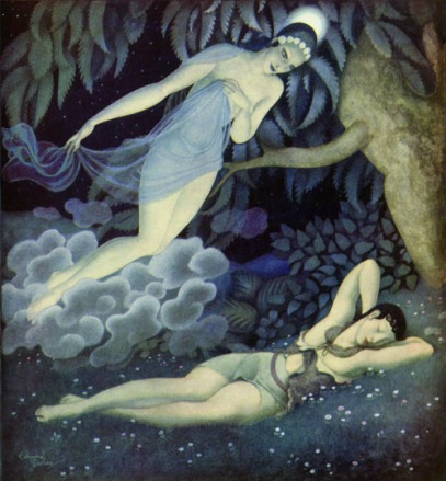 'Selene and Endymion' by Edmund Dulac