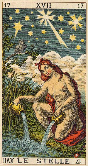 Le Stelle, Tarot Card number 17
