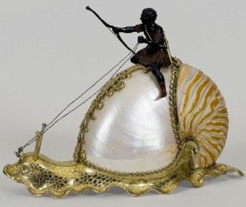 Nautilus Snail 1630 German artwork from Nuremberg
