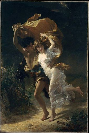 'The Storm' by Pierre Auguste Cot 1880