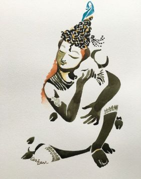 Watercolour #krishnafor today